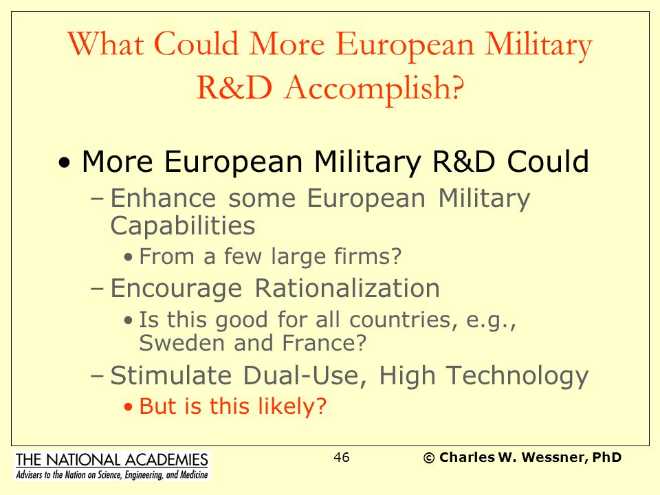 What Could More European Military R&D Accomplish