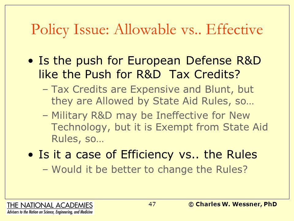 Policy Issue: Allowable vs.. Effective