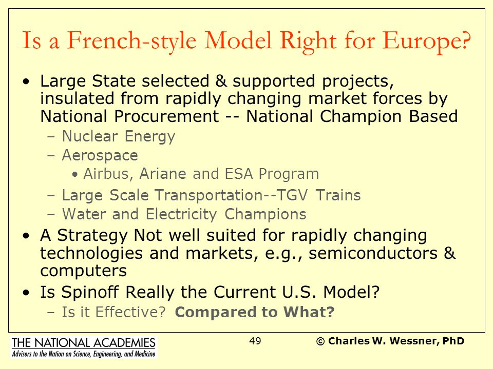 Is a French-style Model Right for Europe