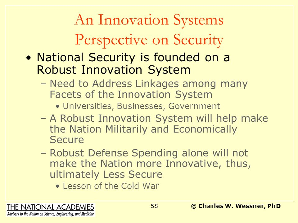 An Innovation Systems Perspective on Security