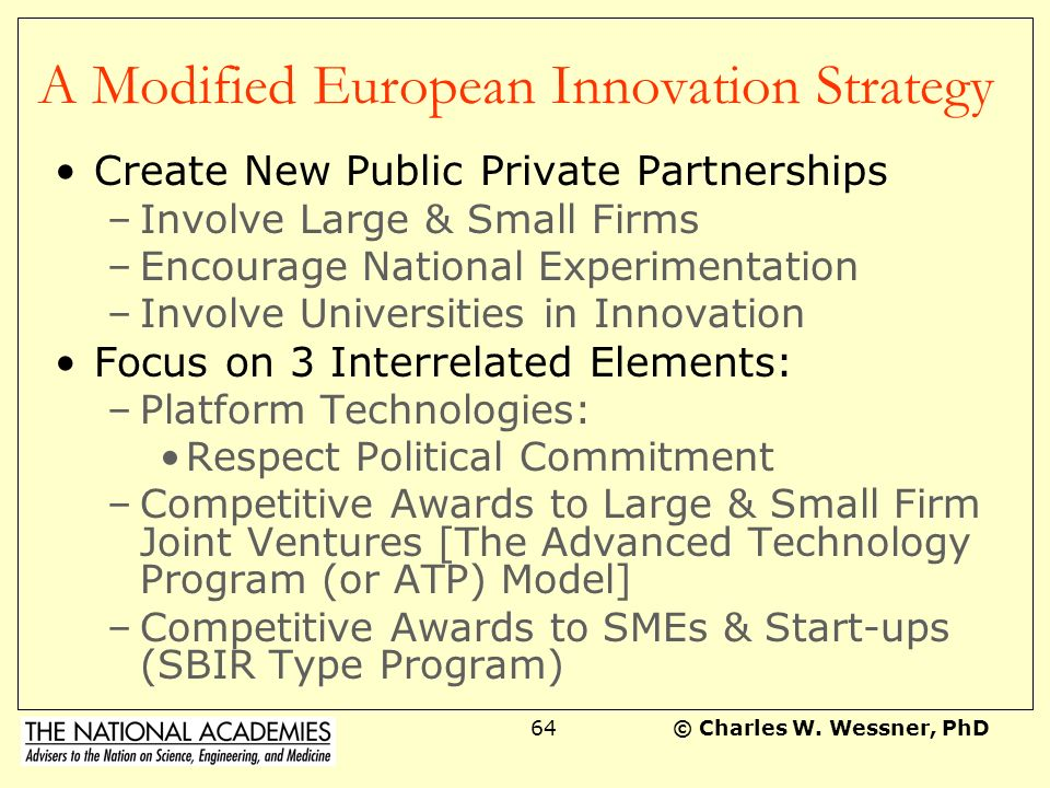 A Modified European Innovation Strategy