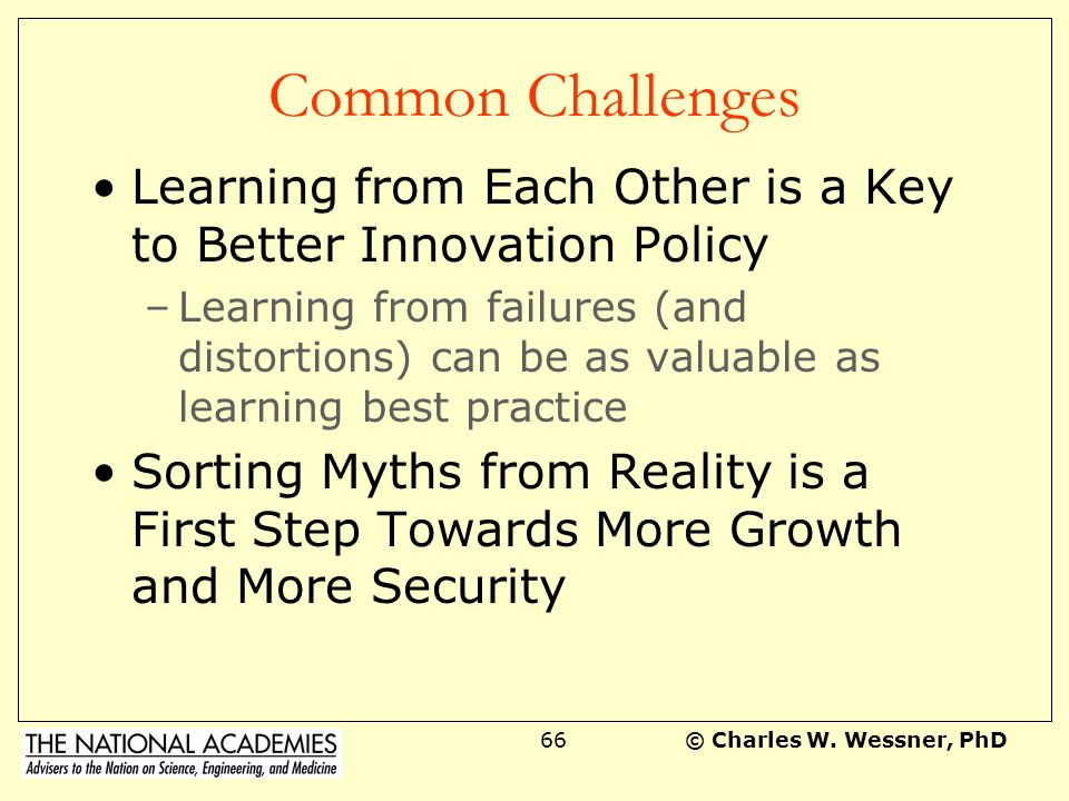 Common Challenges Learning from Each Other is a Key to Better Innovation Policy.