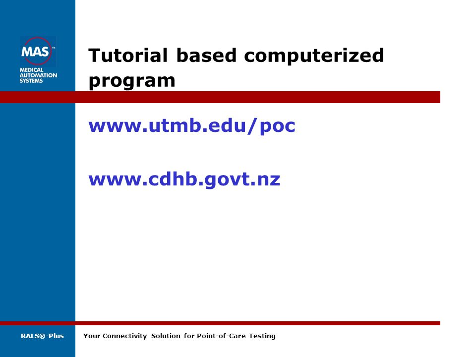 Tutorial based computerized program