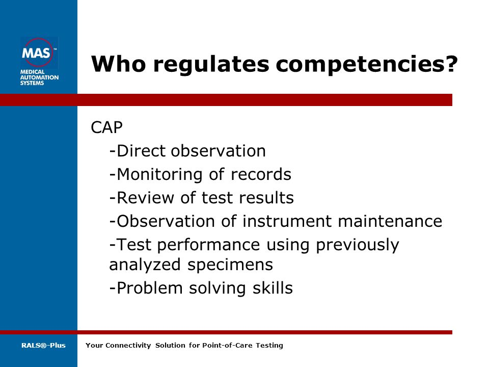Who regulates competencies