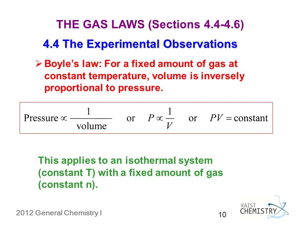 evaluation of a gas constant experiment The ideal gas law states: pv = nrt, where p is the pressure, v is the volume, n is the number of moles of gas present and t is the absolute temperature of the gas r is the gas constant in this experiment, we will use the reaction of a metal with hydrochloric acid to produce a known number of moles of hydrogen gas.
