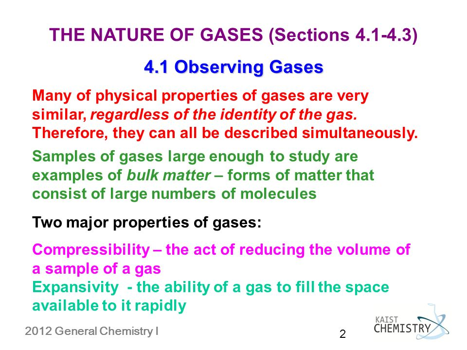 Physical Properties Of Gases Ppt