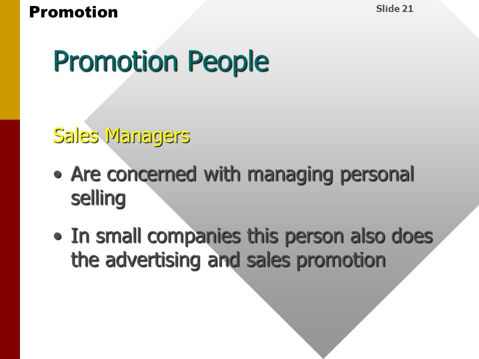 Promotion People Sales Managers