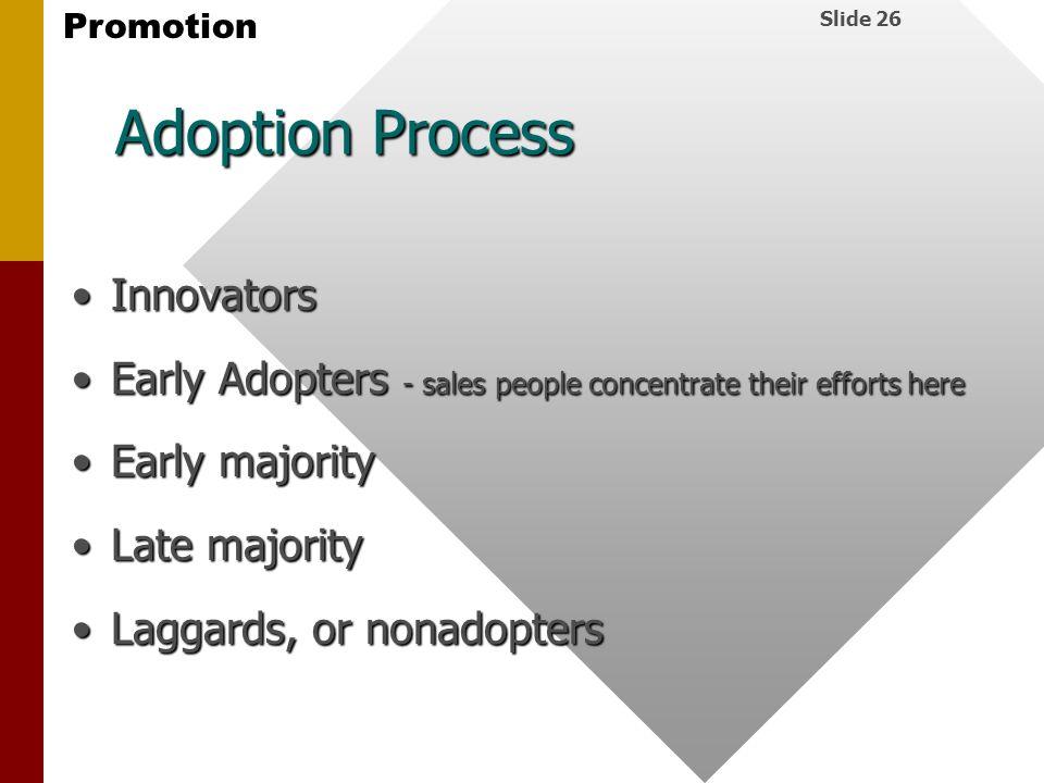 Adoption Process Innovators