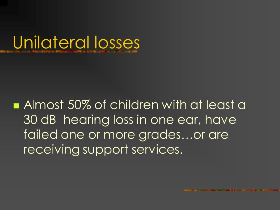 Unilateral losses