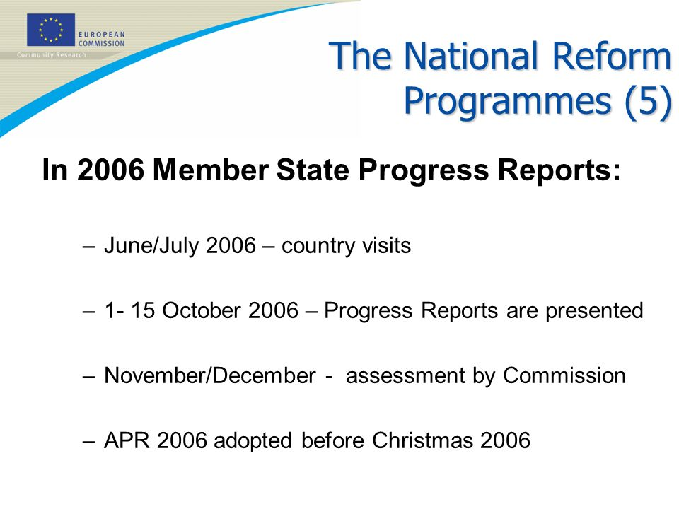 The National Reform Programmes (5)