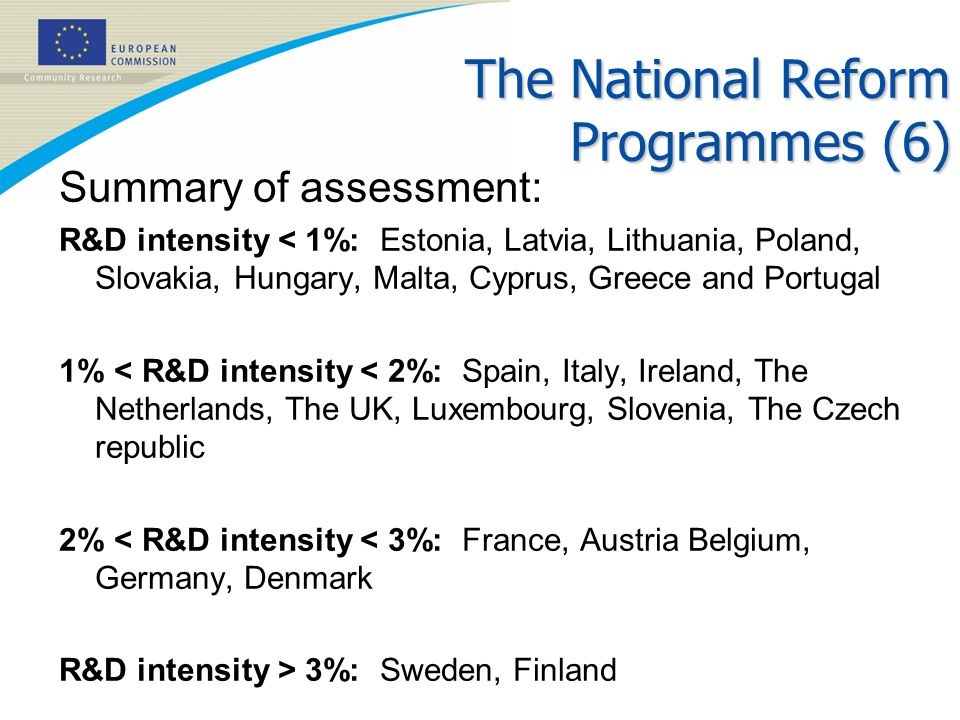 The National Reform Programmes (6)