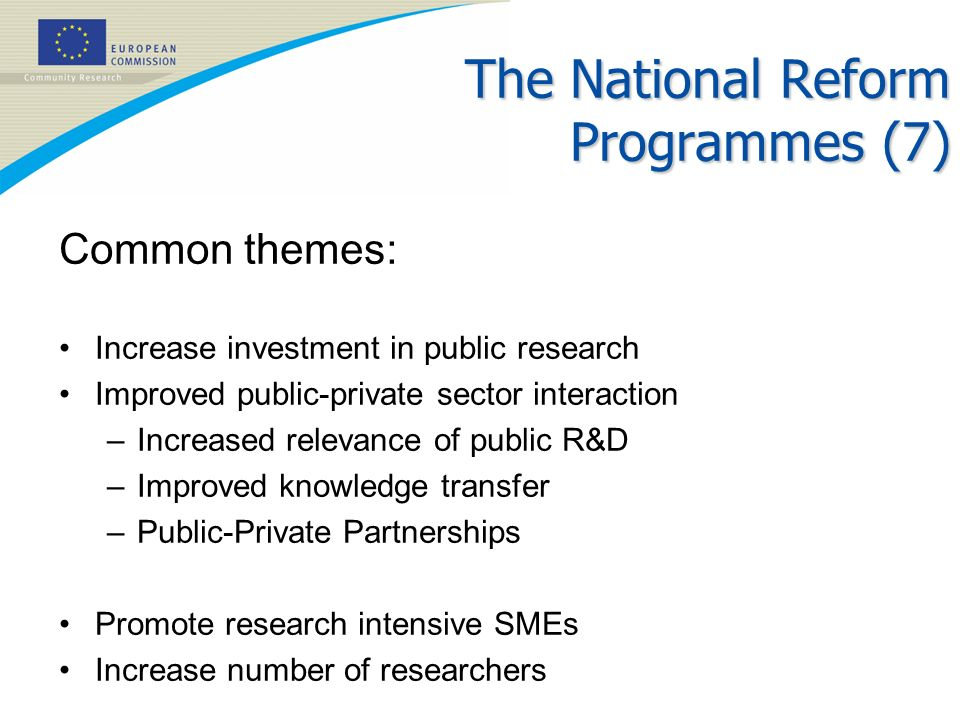 The National Reform Programmes (7)