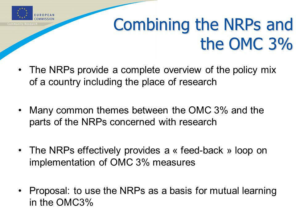 Combining the NRPs and the OMC 3%