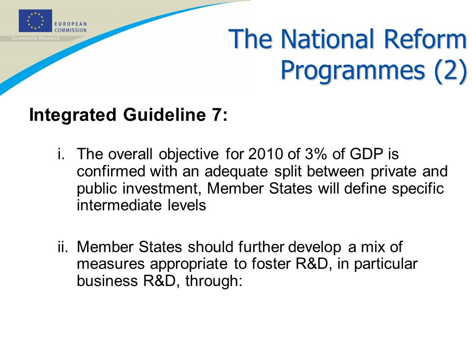 The National Reform Programmes (2)