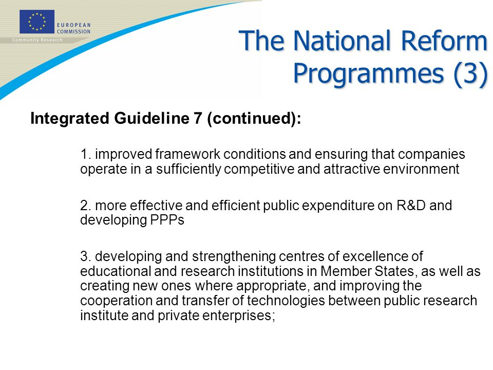 The National Reform Programmes (3)