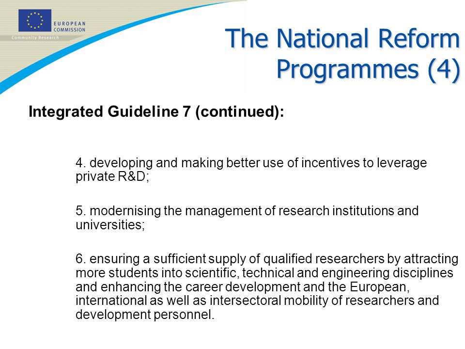 The National Reform Programmes (4)