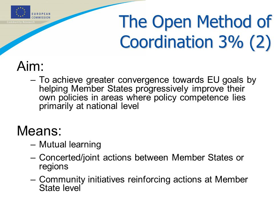 The Open Method of Coordination 3% (2)