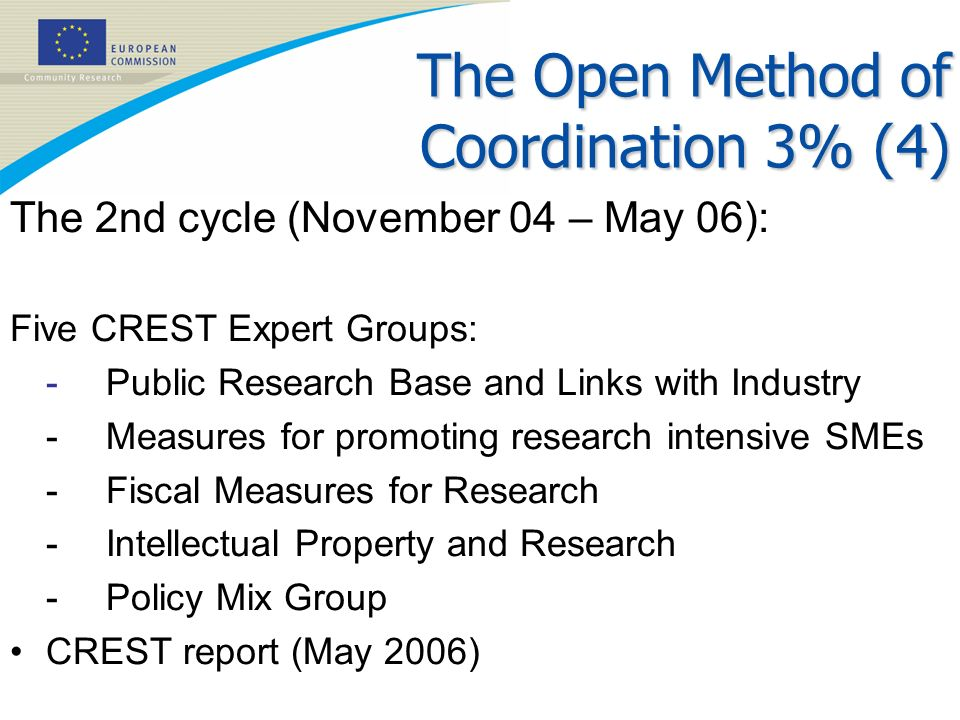 The Open Method of Coordination 3% (4)