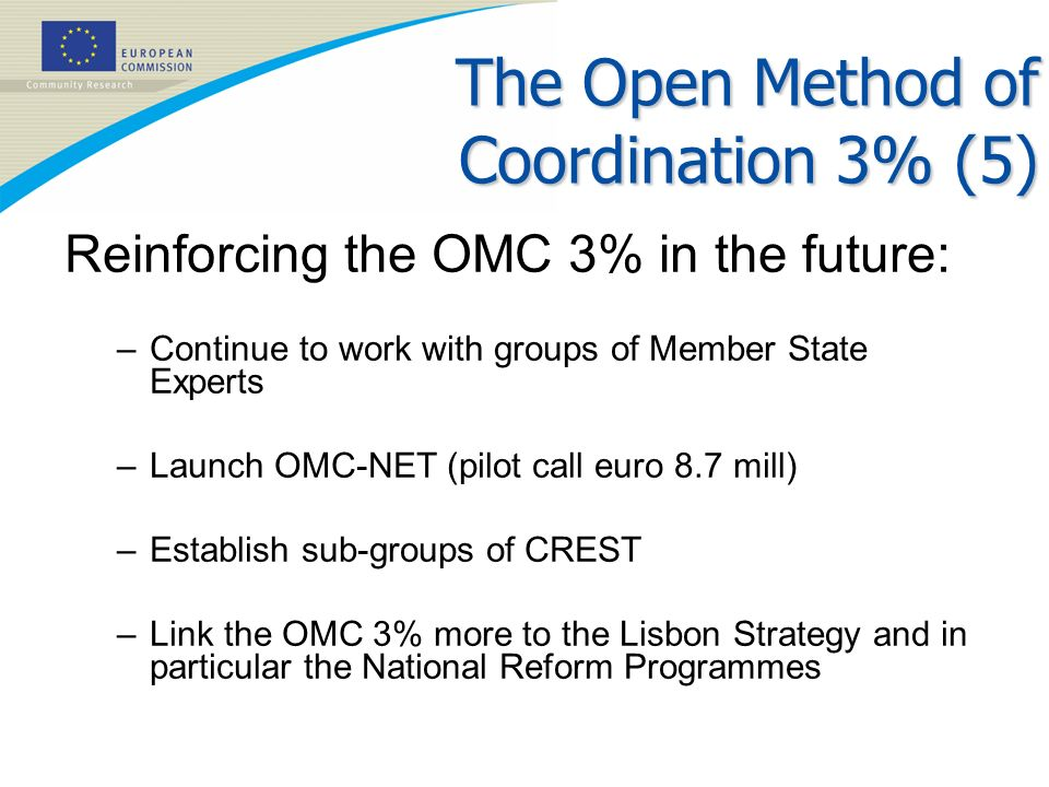 The Open Method of Coordination 3% (5)