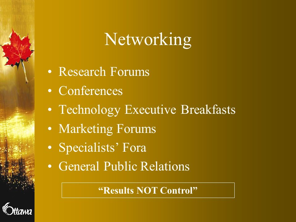 Networking Research Forums Conferences Technology Executive Breakfasts