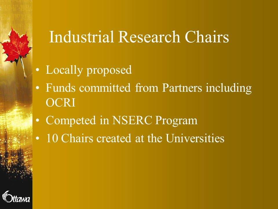 Industrial Research Chairs