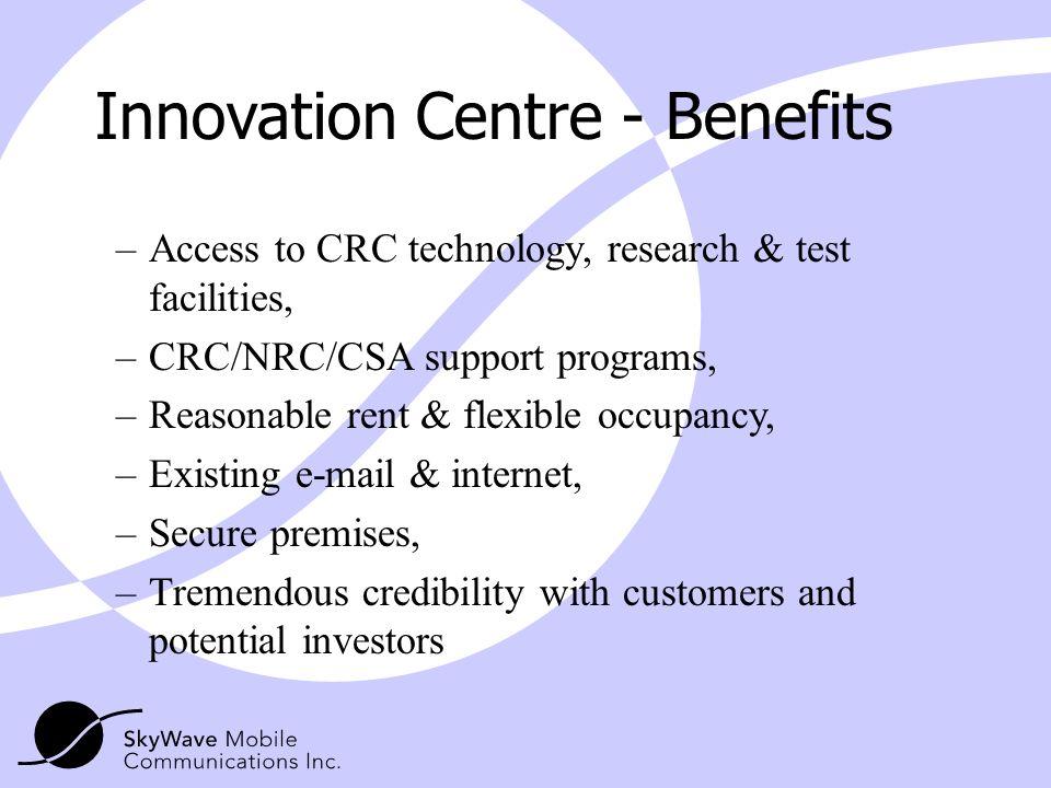 Innovation Centre - Benefits