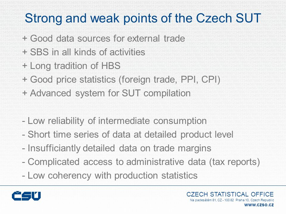 Strong and weak points of the Czech SUT