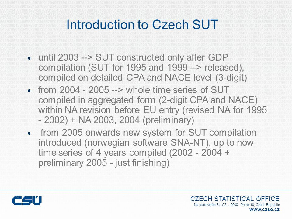 Introduction to Czech SUT