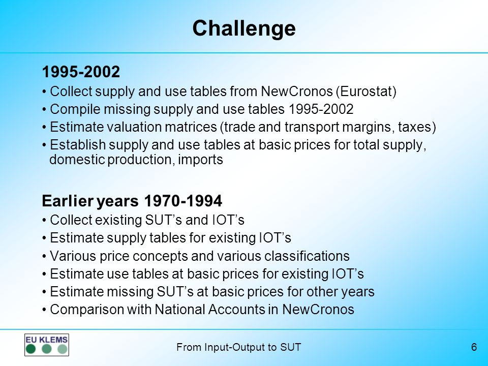 Challenge Earlier years 1970-1994 1995-2002