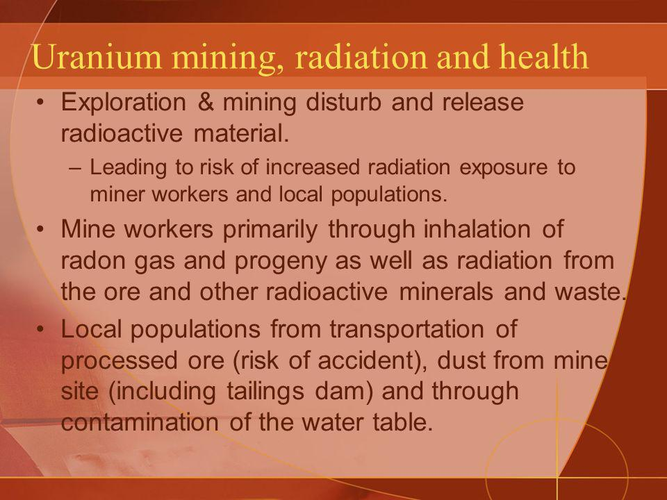Uranium mining, radiation and health