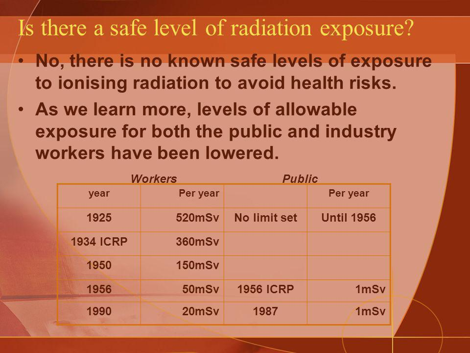 Is there a safe level of radiation exposure