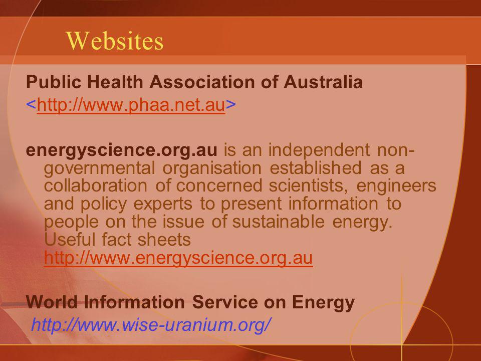 Websites Public Health Association of Australia