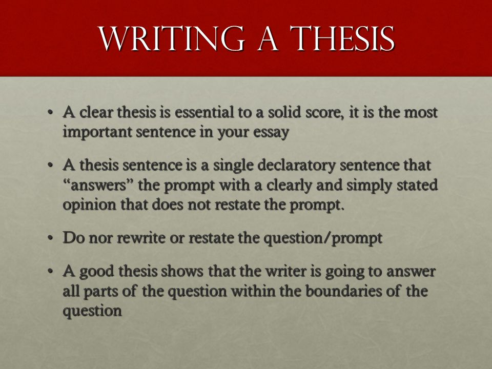 writing a clear thesis