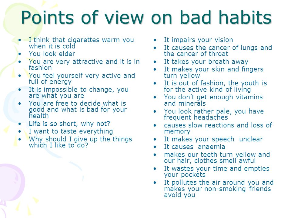 how to change bad habits ppt