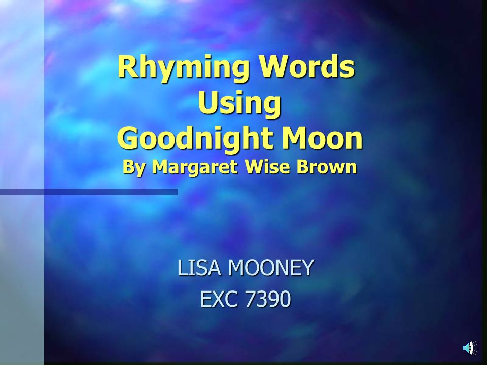 Rhyming Words Using Goodnight Moon
