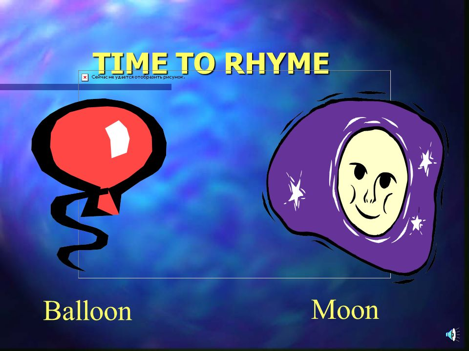 TIME TO RHYME Balloon Moon