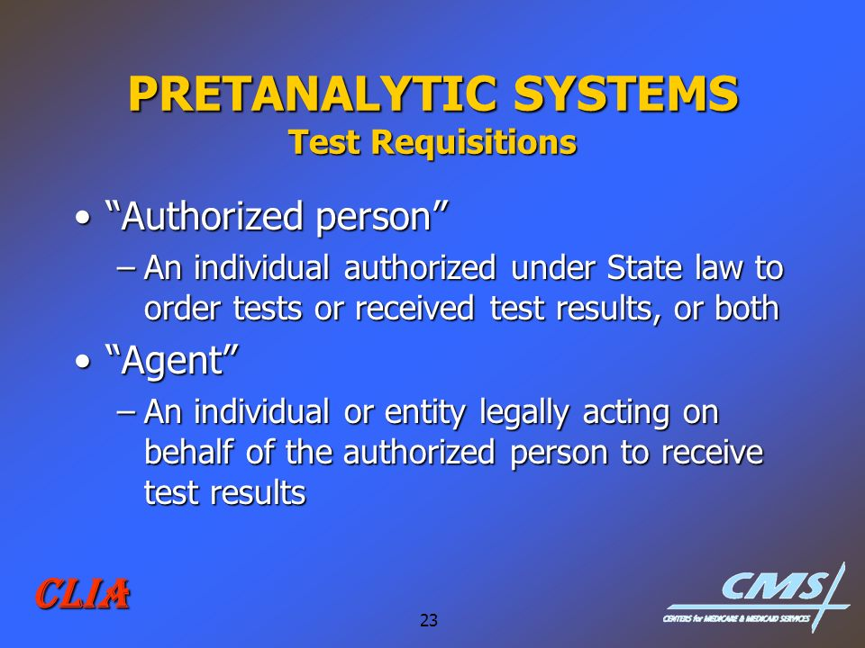 PRETANALYTIC SYSTEMS Test Requisitions