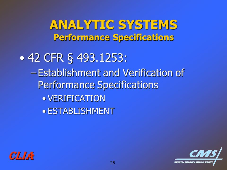 ANALYTIC SYSTEMS Performance Specifications