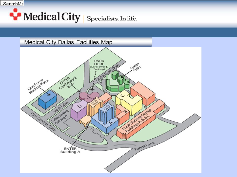 Medical City Dallas Facilities Map