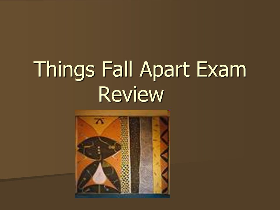 ?things fall apart essay Things fall apart (1958) is a fictional novel by chinua achebe that examines the life the igbo tribe living in a rural village called umuofia in nigeria therefore, my argument for this essay is when two cultures intertwine together the imposing culture that is more powerful will alter or destroy aspects of.