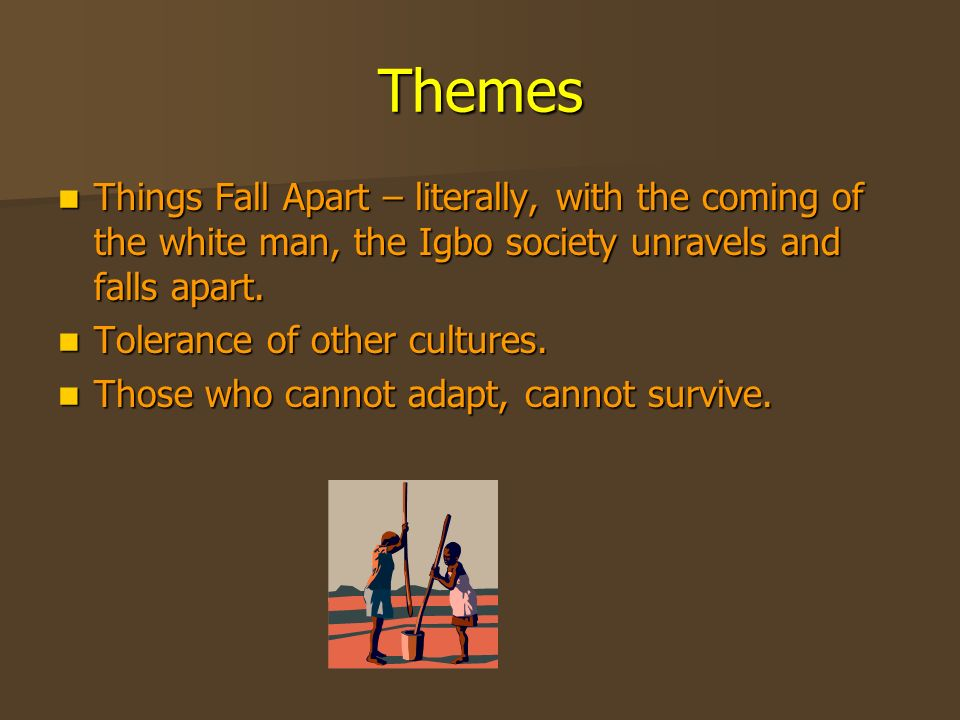 "things fall apart irony As if to sharpen it with irony,  ""things fall apart,"" which is set in the late 19th century, tells the story of okonkwo,."