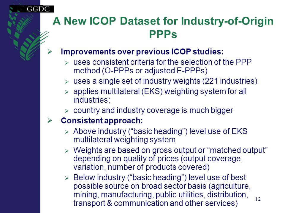A New ICOP Dataset for Industry-of-Origin PPPs