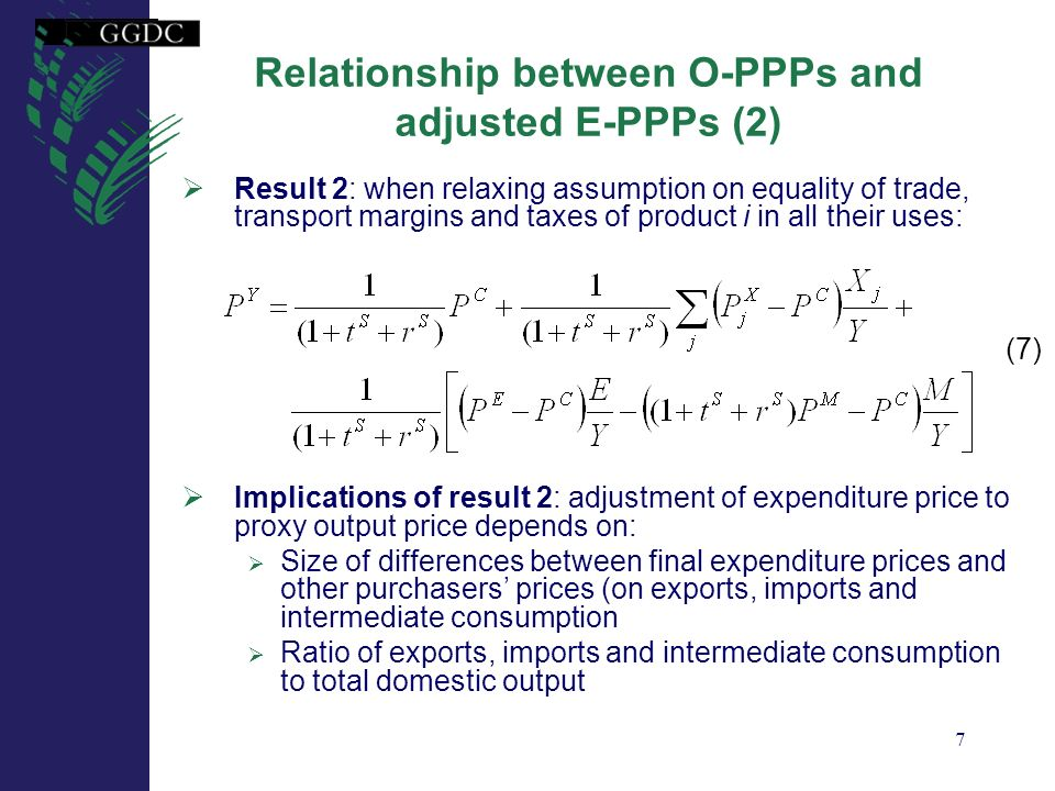 Relationship between O-PPPs and adjusted E-PPPs (2)