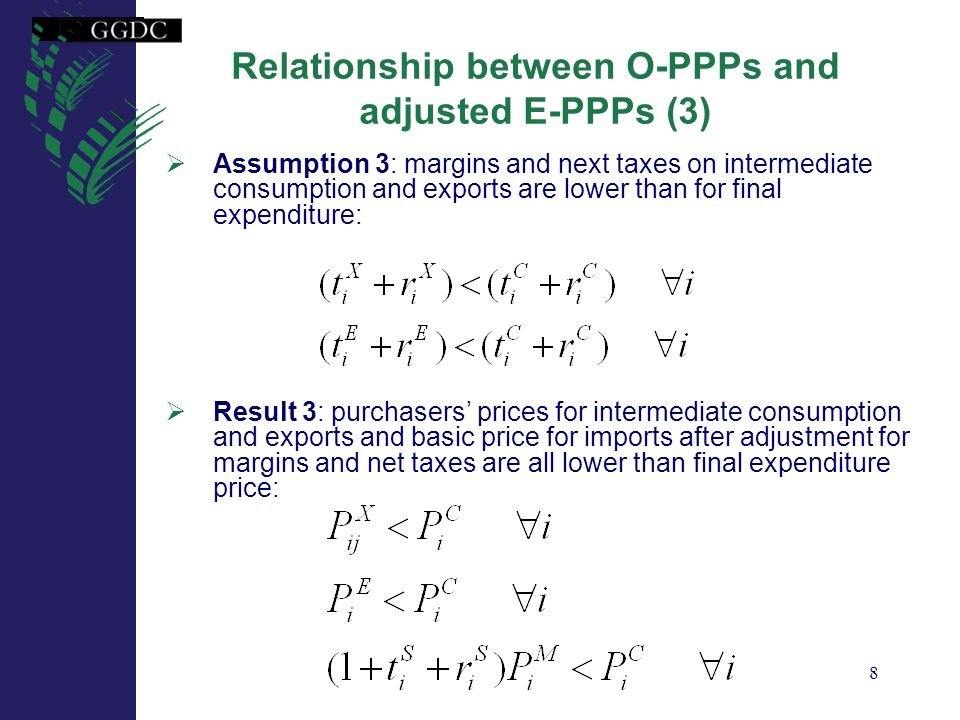 Relationship between O-PPPs and adjusted E-PPPs (3)