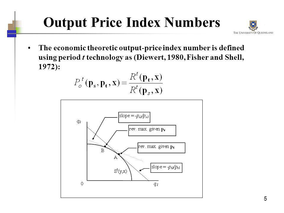Output Price Index Numbers