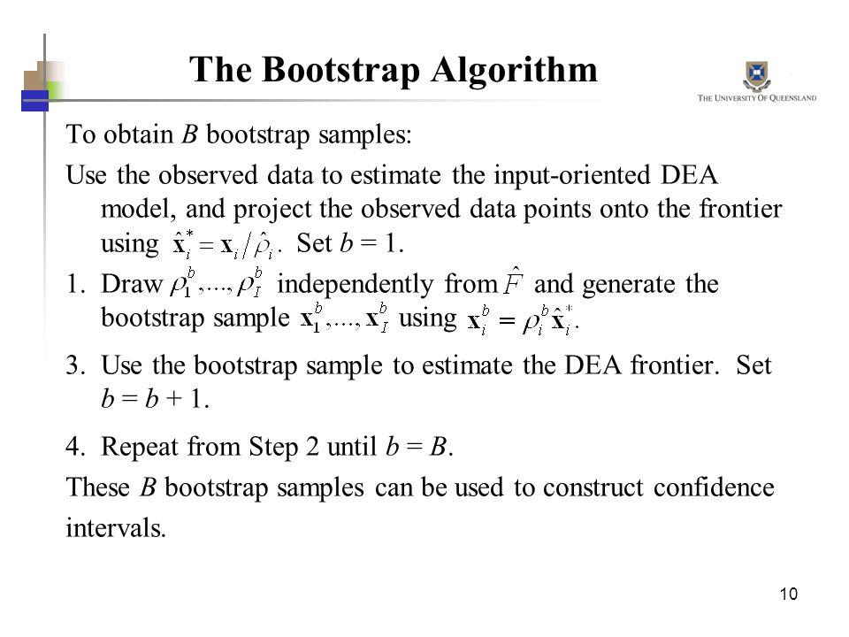 The Bootstrap Algorithm
