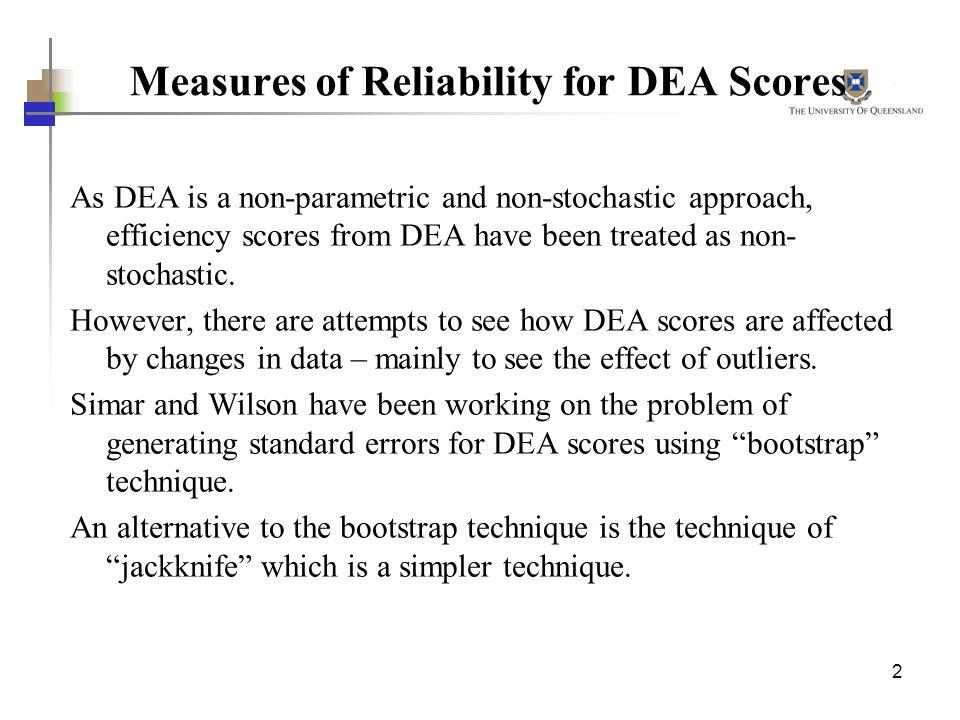 Measures of Reliability for DEA Scores