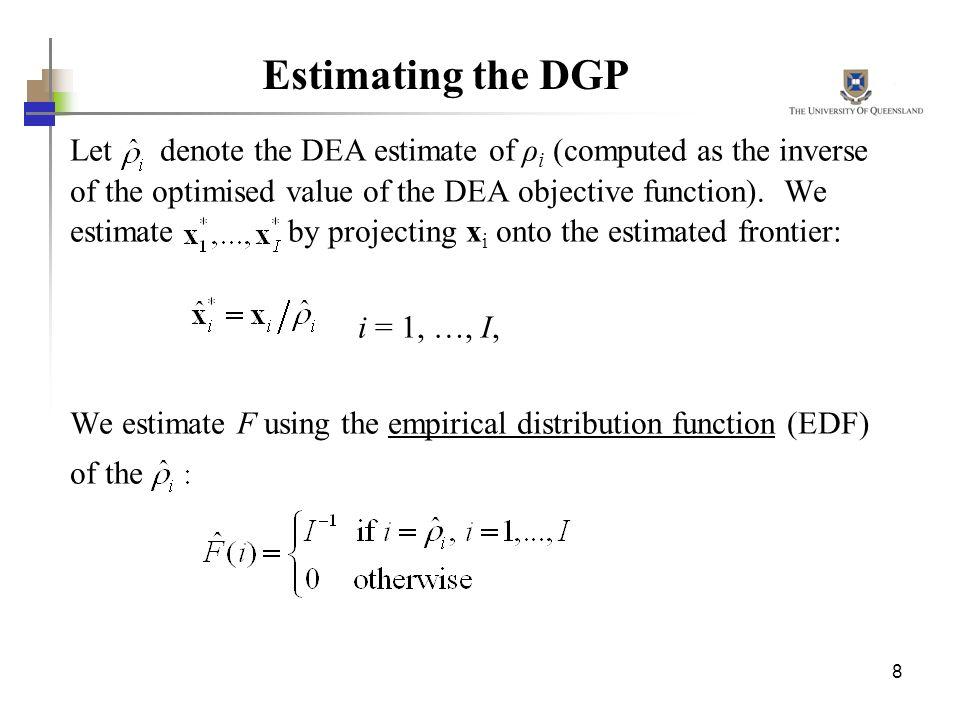 Estimating the DGP