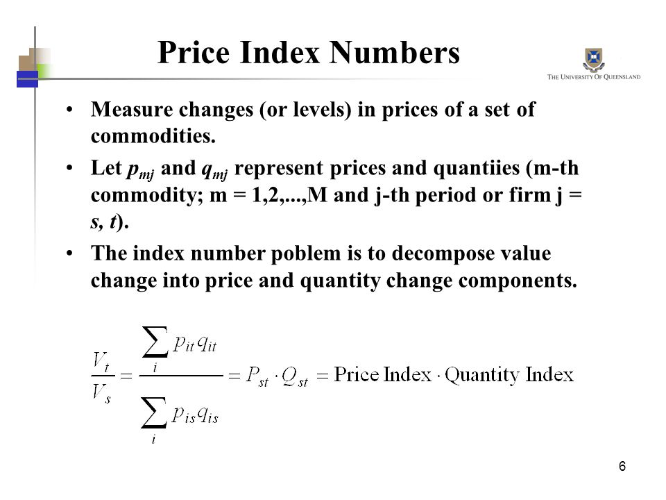 index numbers of commodity prices and Commodity price index gives the weighted mean of the price of a selected commodity the number of commodities used for the collection is constant and that is 36.