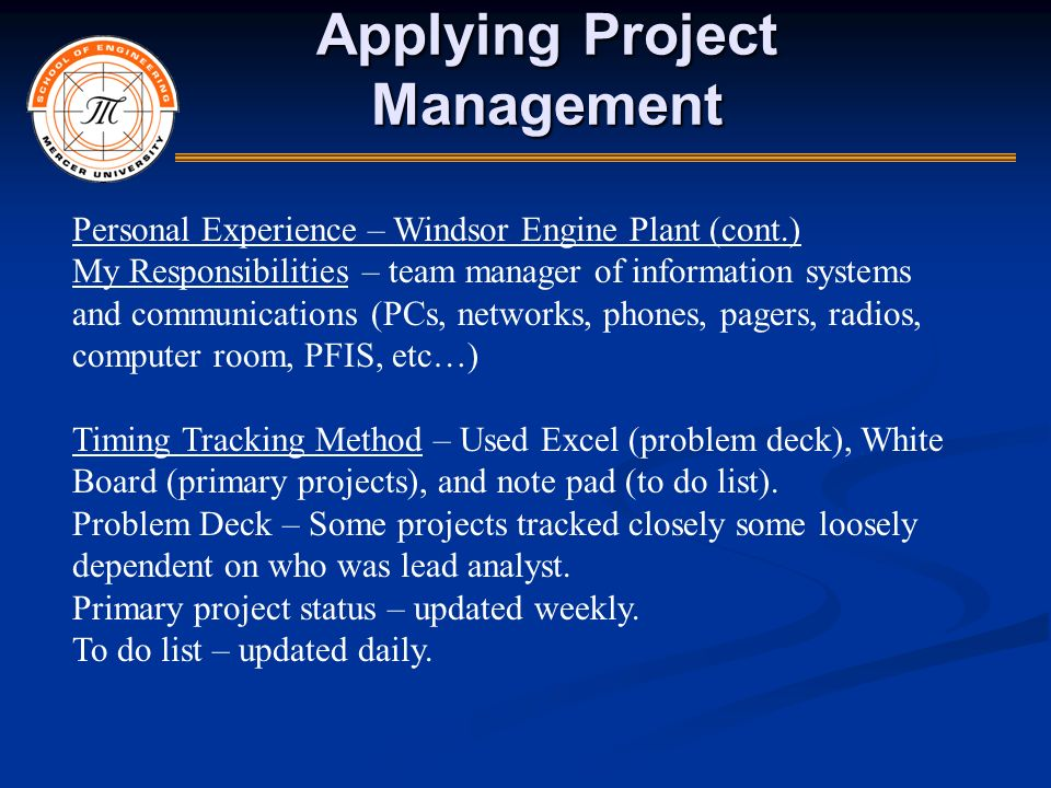 individual management experience The purpose of this reflection i have been asked by university management to write an individual it helps the students getting management experience.